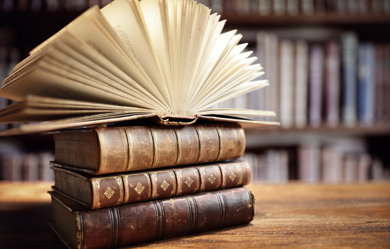Photo wallpaper books, knowledge, information