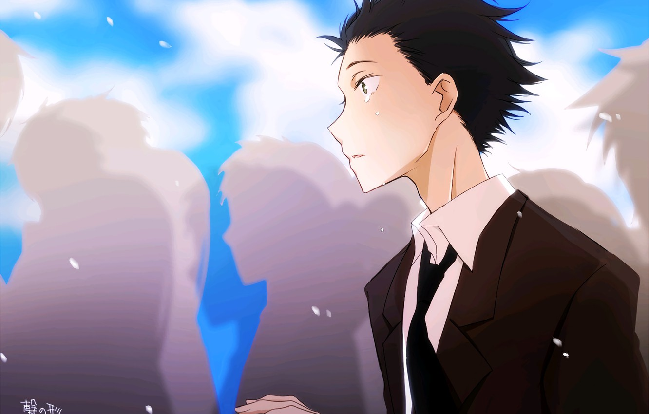 Photo wallpaper people, guy, tears, crying, Form voice, You No Katachi