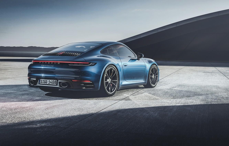 Photo wallpaper Auto, Black, Porsche, Machine, Porsche 911, Black, Carrera 4S, Porsche 911 Carrera 4S, by the …