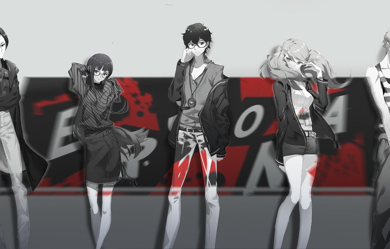 Wallpaper Group Characters Person 5 Persona 5 Images For