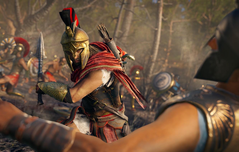 Photo wallpaper battle, Assassin's Creed, Odyssey, Assassin's Creed Odyssey, Assassins Creed, Odiseya, Assassins Creed Odiseya