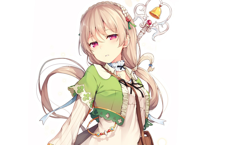 Photo wallpaper girl, anime, white background