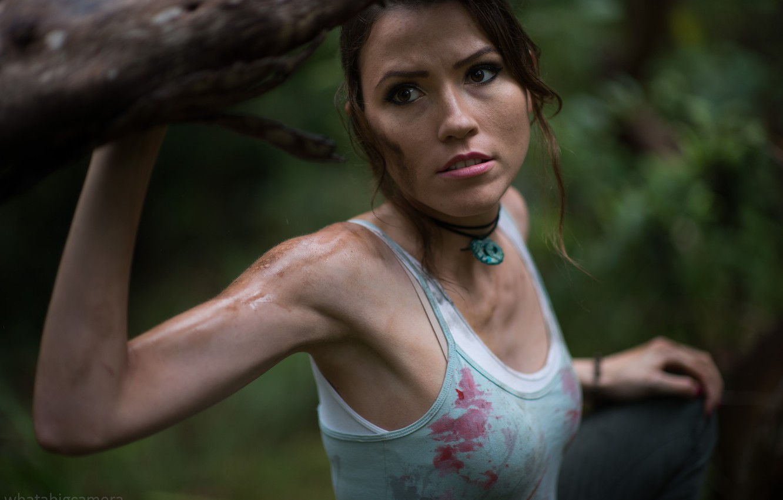 Photo wallpaper Tomb Raider, Lara Coft, Cosplay