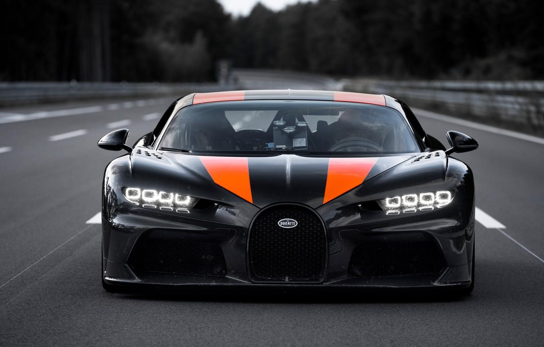 Photo wallpaper asphalt, strip, Bugatti, hypercar, Chiron, Super Sport 300+