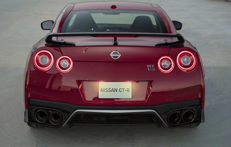 Photo wallpaper Red, Nissan GTR, Sport Car