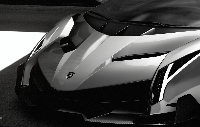 Photo wallpaper Auto, Minimalism, Machine, Lights, Lambo, Hypercar, Black And White, Veneno, Gran Turismo Sport, Lamboghini, Lamba