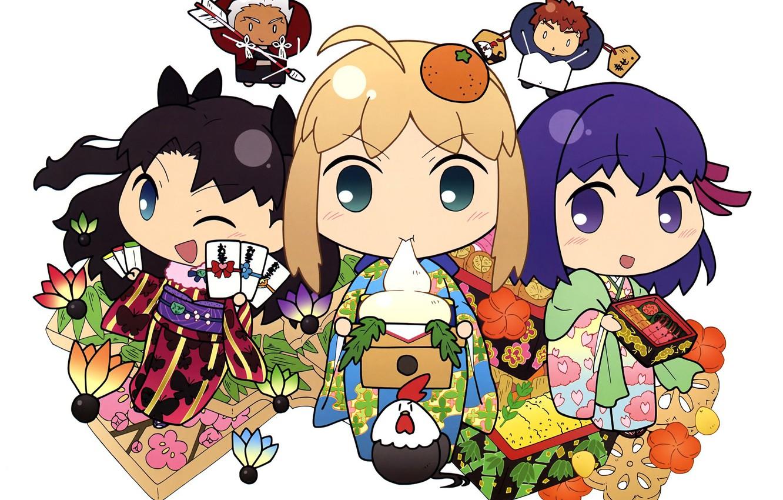 Photo wallpaper girls, arrow, Chibi, Tohsaka Rin, the saber, Malachy, Archer, Emiya Shirou, Artoria Pendragon, Fate stay …