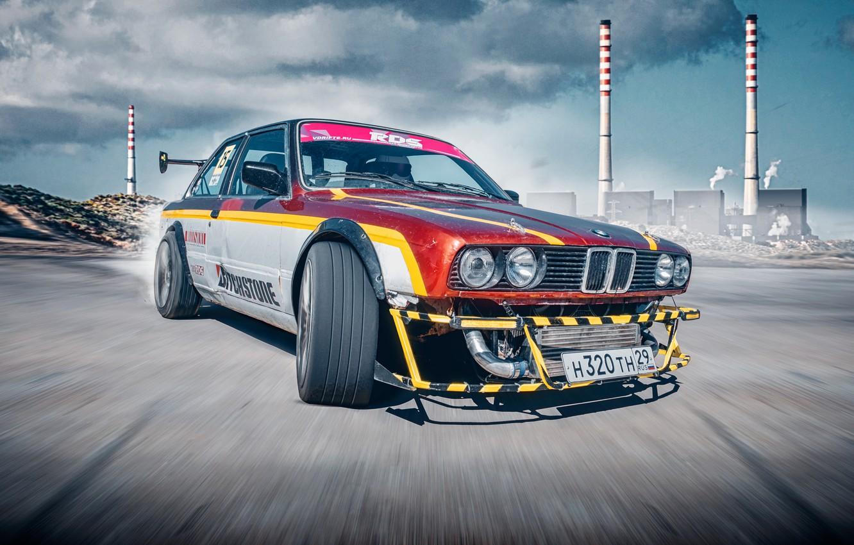 Photo wallpaper BMW, BMW, Drift, RDS, E30, 3 Series, Drifting