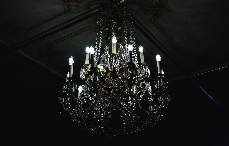 Photo wallpaper the ceiling, chandelier, light bulb
