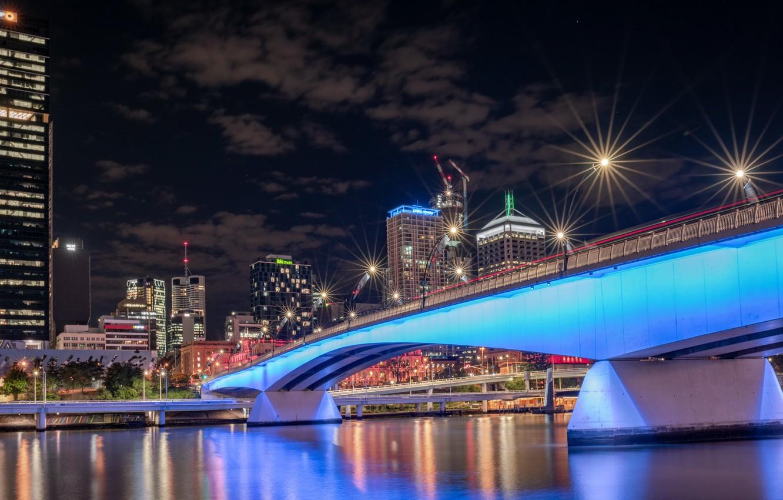 Photo wallpaper Australia, Queensland, Brisbane, South Bank, River City
