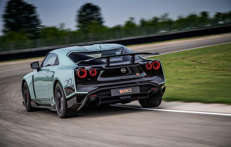 Photo wallpaper track, back, Nissan, GT-R, R35, Nismo, ItalDesign, 2020, V6, GT-R50, 720 HP