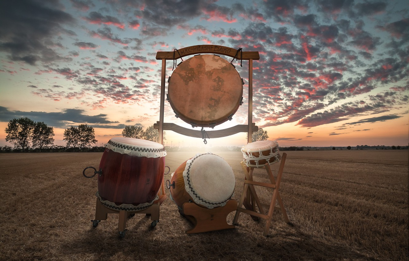 Photo wallpaper drums, shock, taiko