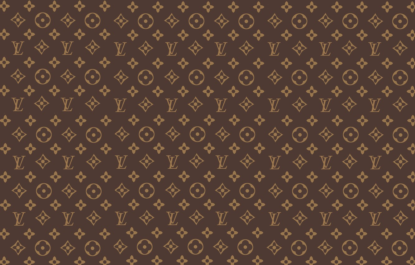 Photo wallpaper wall, patterns, brown, patterns, fon, louis vuitton, Louis Vuitton, LV