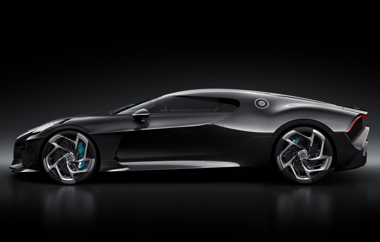 Photo wallpaper machine, Bugatti, drives, stylish, hypercar, The Black Car