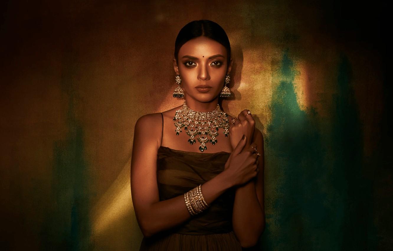 Photo wallpaper girl, fashion, eyes, smile, beautiful, model, pretty, beauty, lips, face, hair, brunette, pose, cute, indian, …