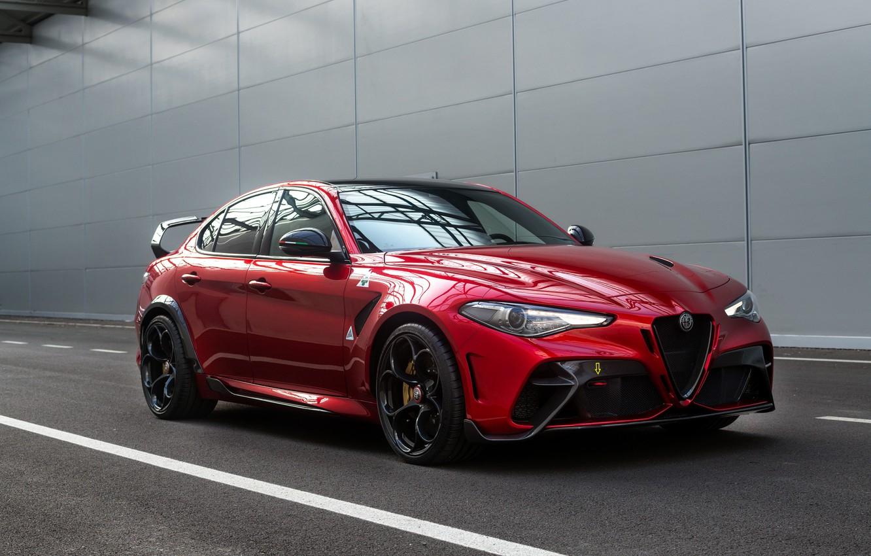 Photo wallpaper Alfa Romeo, the wall, Giulia, GTAm, 2020, Gran Turismo Alleggerita changed