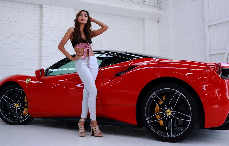 Red Ferrari Girl