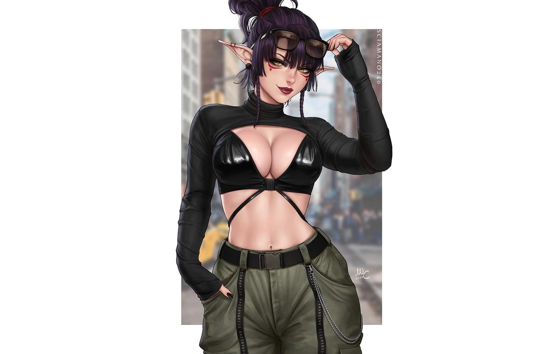 Photo wallpaper girl, style, elf, elf, sciamano240