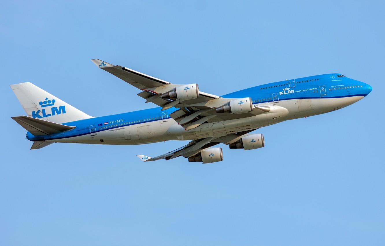 Photo wallpaper Boeing, KLM, Royal Dutch Airlines, 747-400M