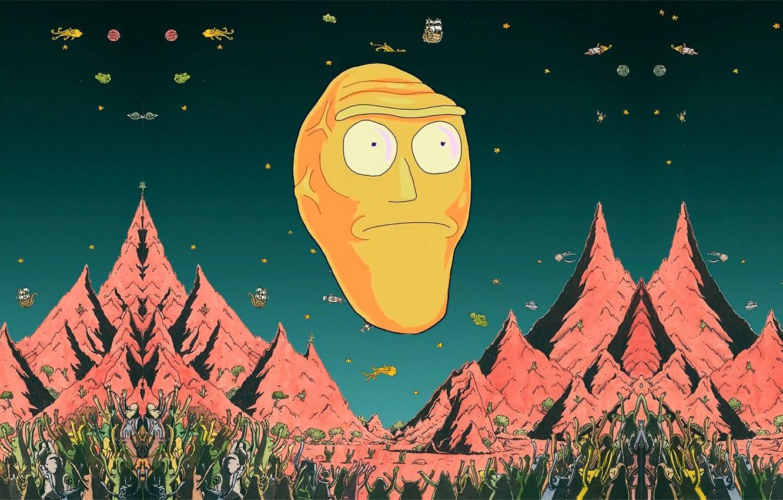Wallpaper Mountains Smith Cartoon Sanchez Rick Rick And Morty