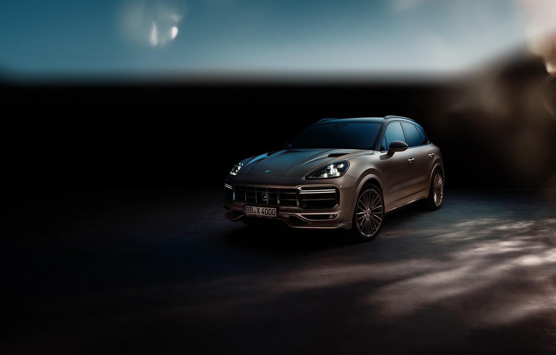 Photo wallpaper Porsche, Turbo, 2018, Cayenne, TechArt