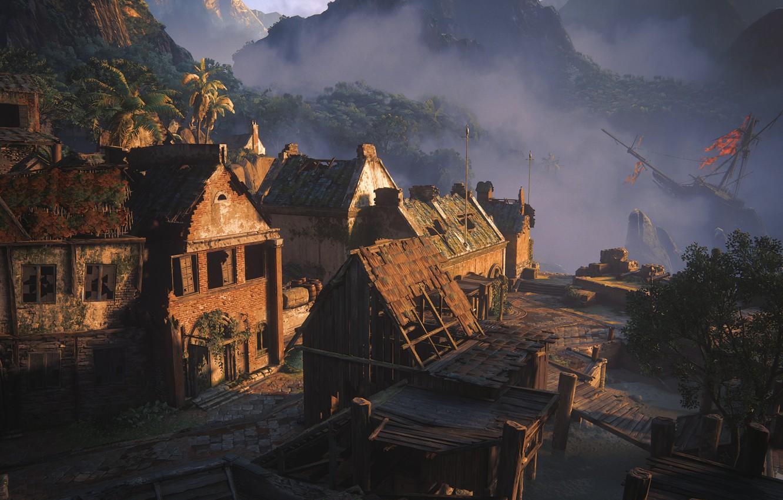Photo wallpaper building, Naughty Dog, Playstation 4, Uncharted 4: A Thief's End, the wreck, Libertaliya