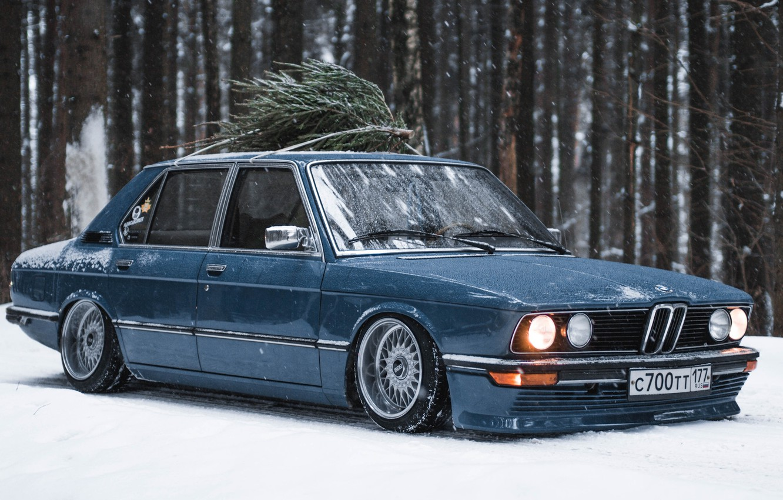 Photo wallpaper BMW, E12, 5-Series, 518
