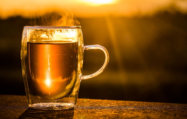 Photo wallpaper tea, couples, Cup, drink