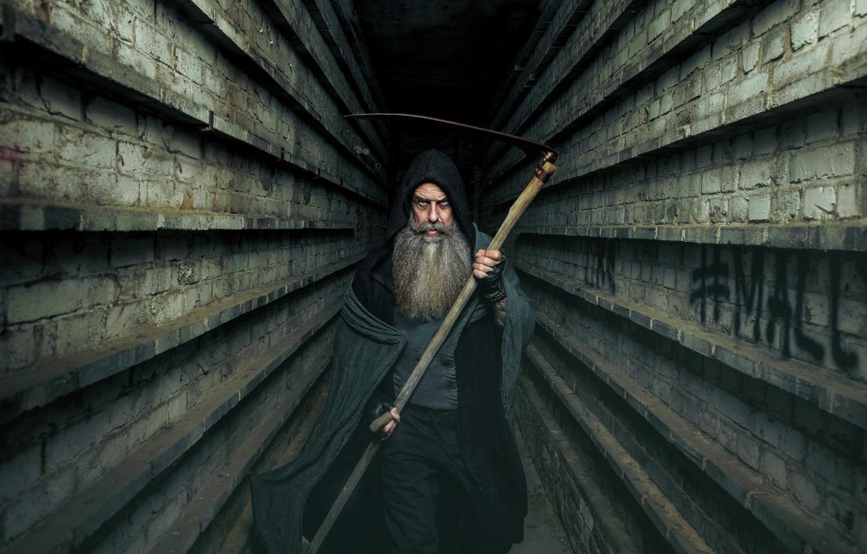 Photo wallpaper death, braid, the tunnel