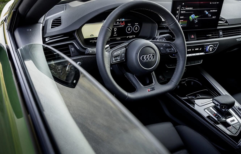 Photo wallpaper Audi, the door, salon, RS 5, 2020, RS5 Sportback