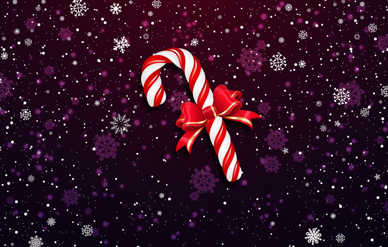 Wallpaper Minimalism Snow Christmas Snowflakes