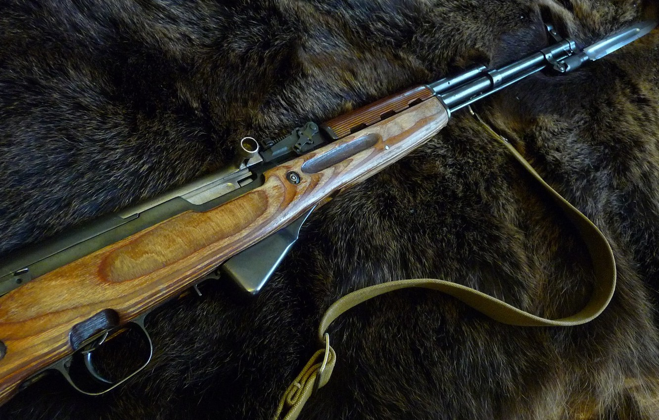 Wallpaper Weapons The Skin Of A Bear Sks Images For