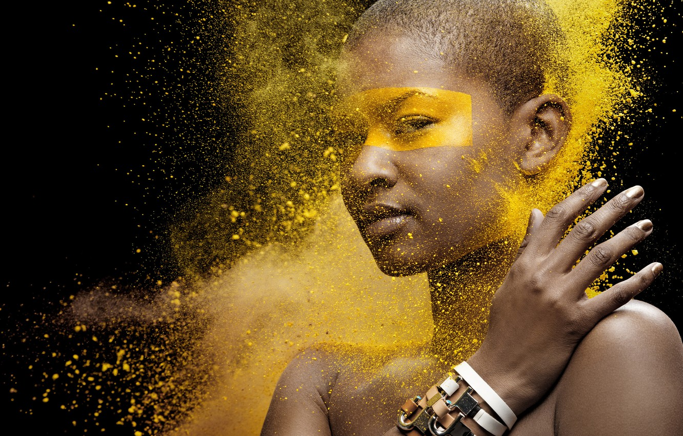Photo wallpaper party, customs, yellow, dust