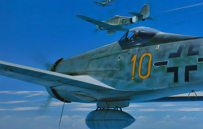 Photo wallpaper war, art, airplane, ww2, fw-190
