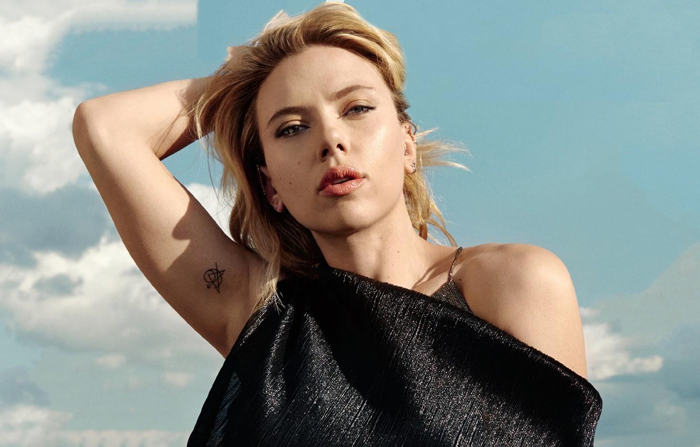 Wallpaper Look Girl Pose Scarlett Johansson Tattoo