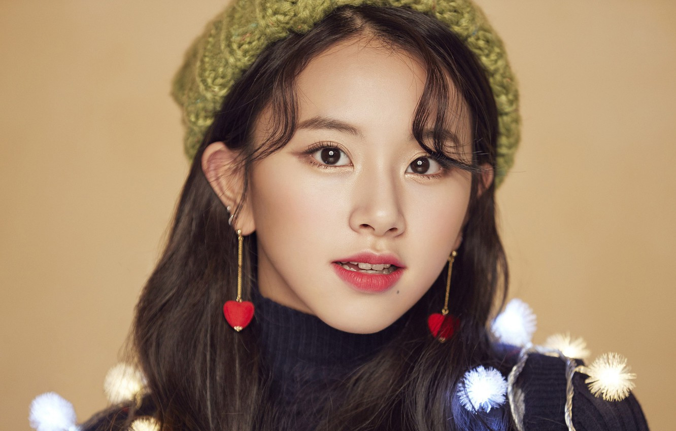 Wallpaper Girl Music Kpop Chaeyoung Twice Merry And Happy