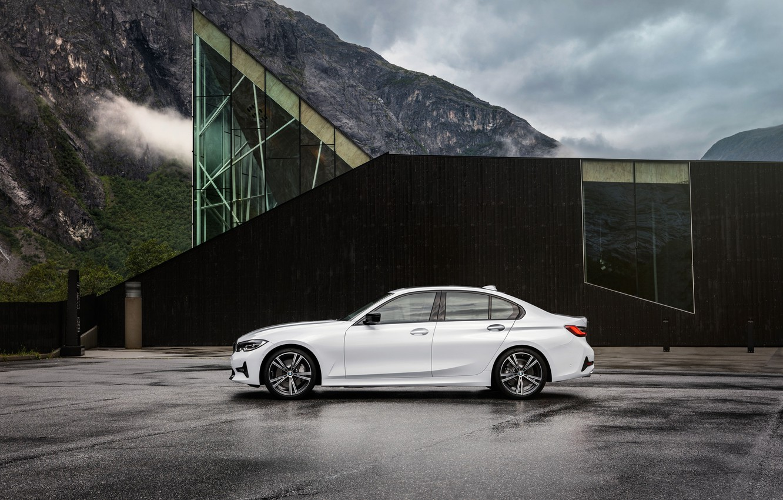 Photo wallpaper Car, Parking, BMW 3-Series, 2019, Black House
