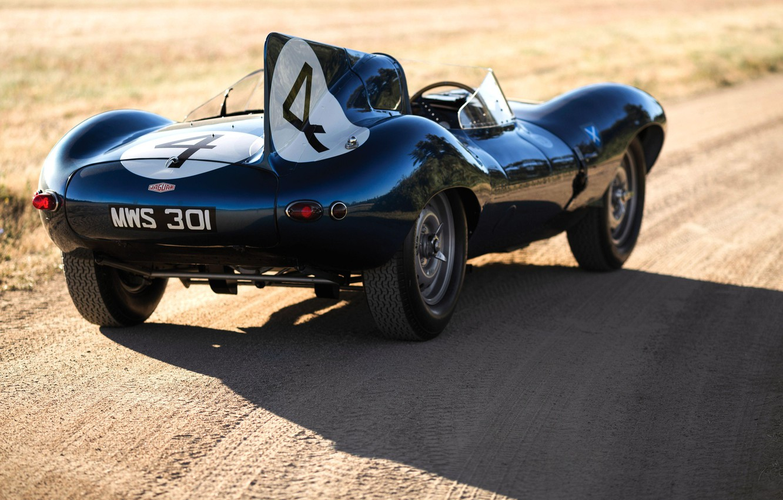 Photo wallpaper Retro, Race Car, British car, Jaguar D-Type