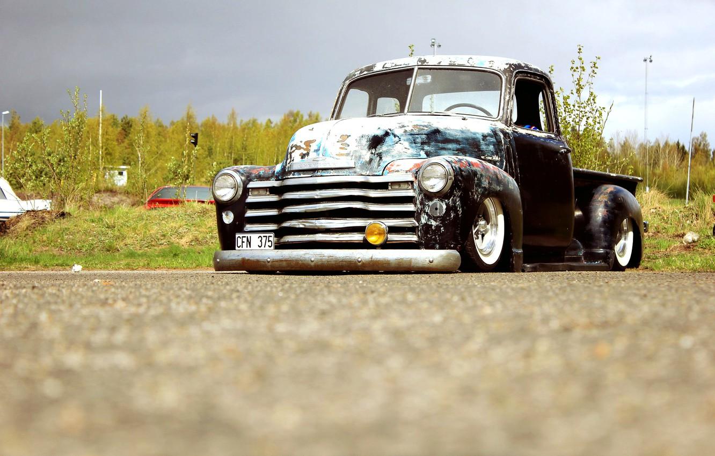 Photo wallpaper Chevrolet, Truck, Custom, Rat Rod, 3100