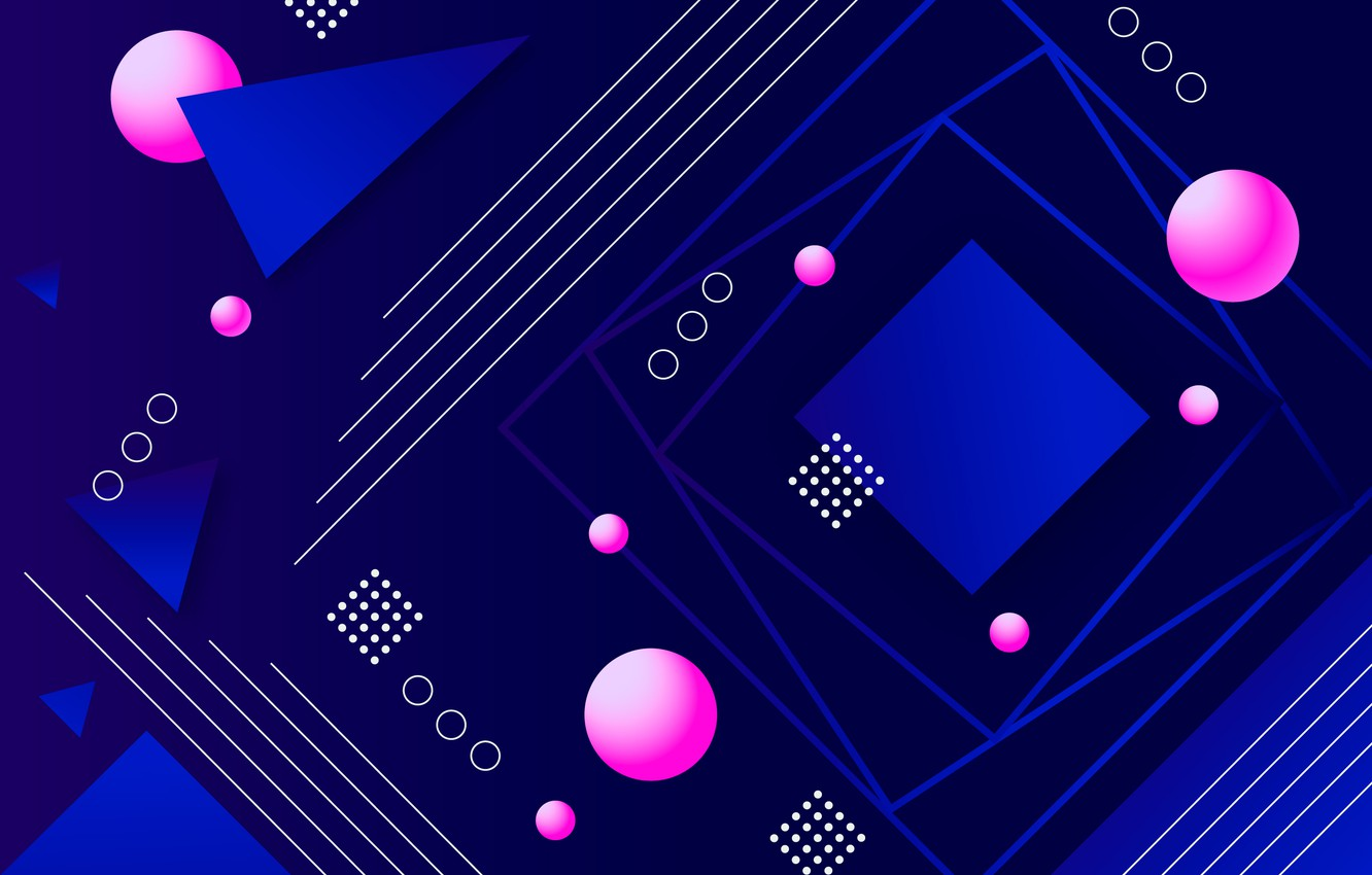 Photo wallpaper line, blue, abstraction, background, pink, geometry, background