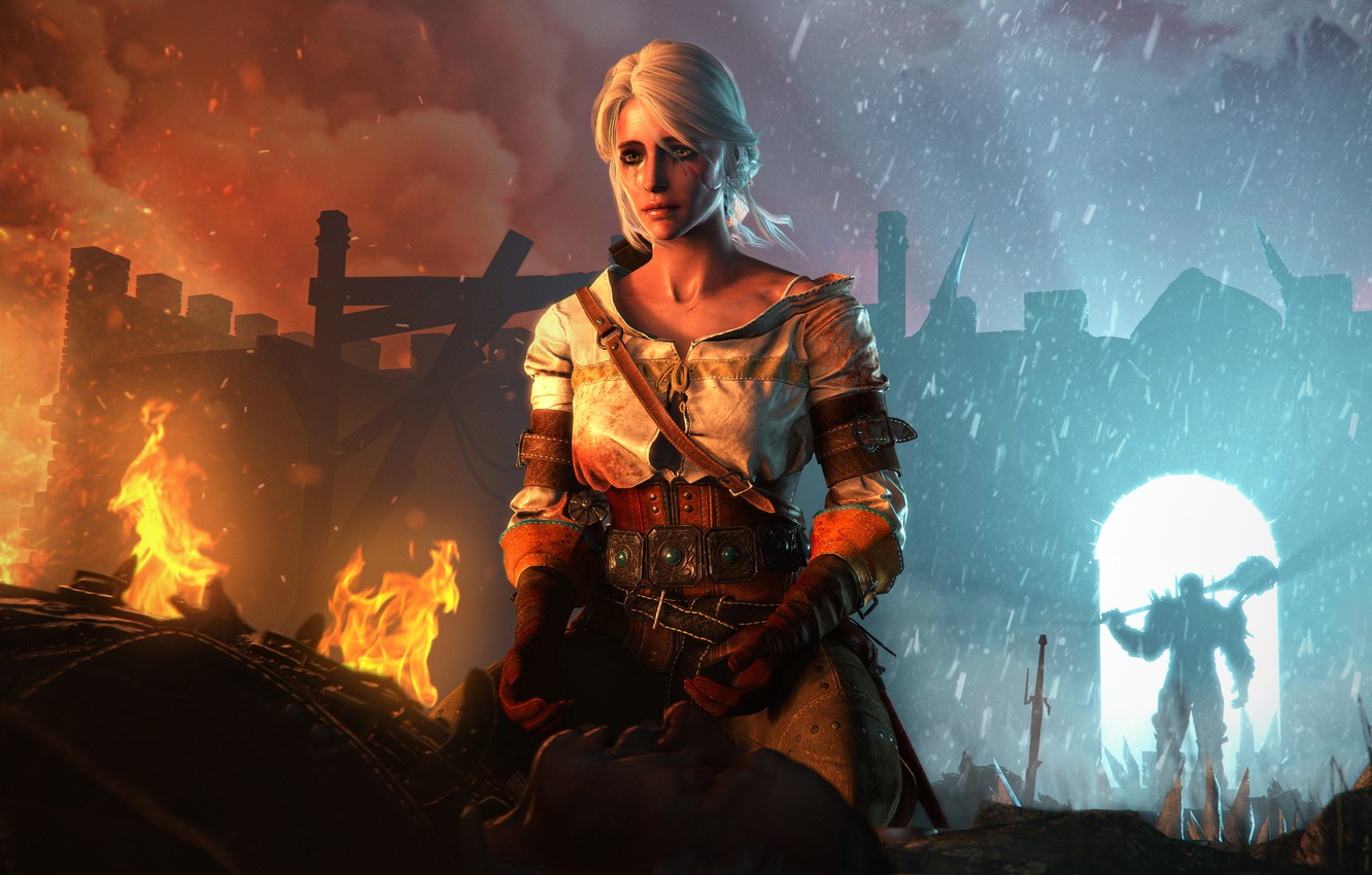Wallpaper Wild Hunt Witcher 3 Cd Projekt Red Ciri Cirilla