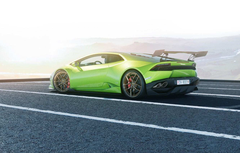 Photo wallpaper Lamborghini, Green, Supercar, Huracan, LP610-4