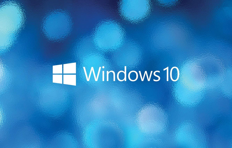 Photo wallpaper glass, windows, Windows 10