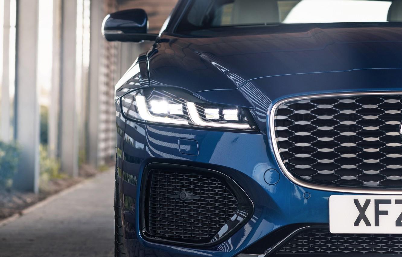 Photo wallpaper Jaguar, before, grille, sedan, bumper, Jaguar XF, 2020, XF