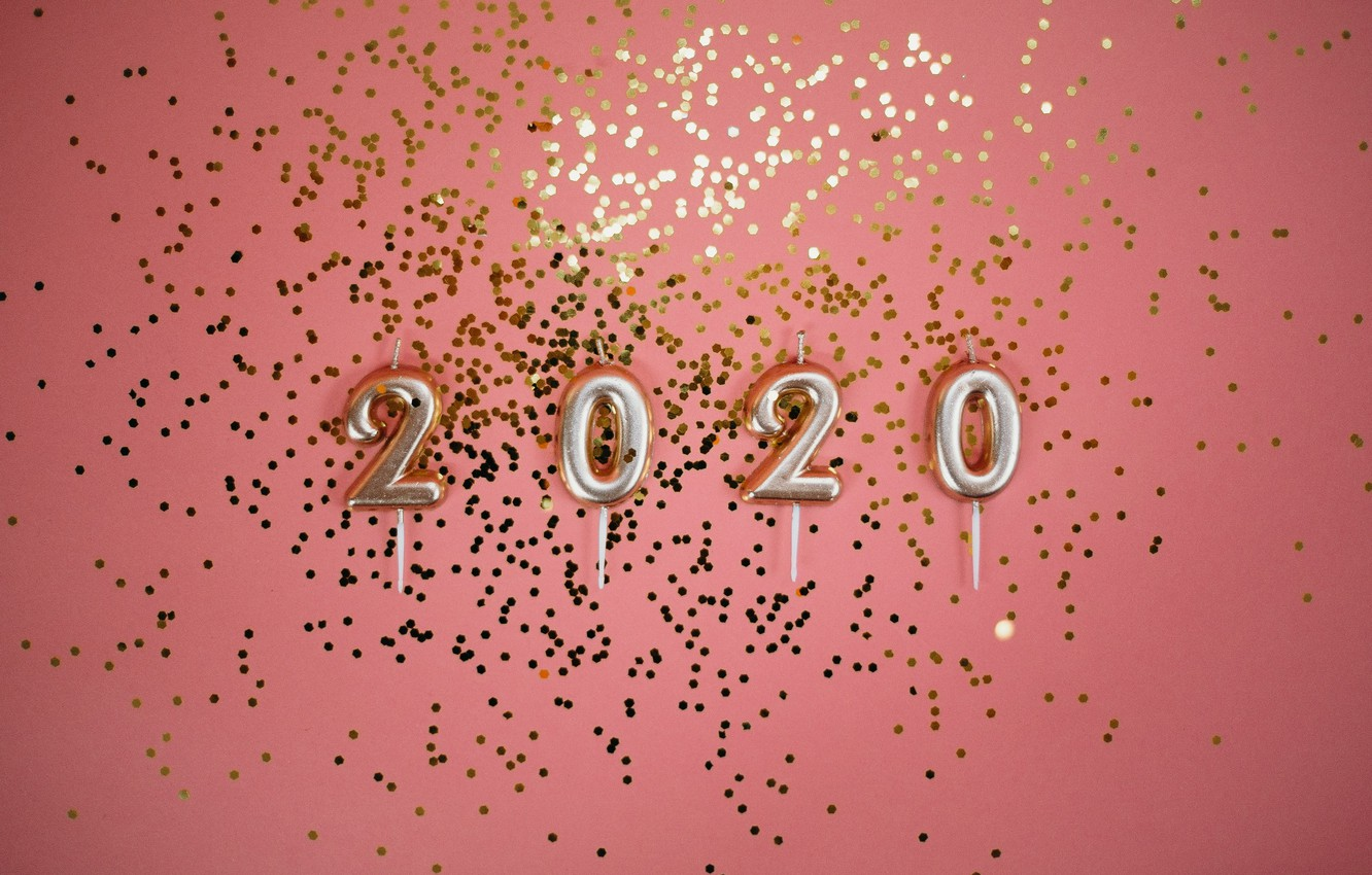 Photo wallpaper background, New year, 2020