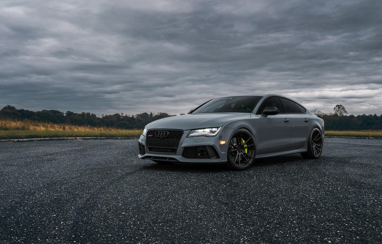 Photo wallpaper Audi, Light, Evening, VAG, RS7, Sight, Graphite, LED