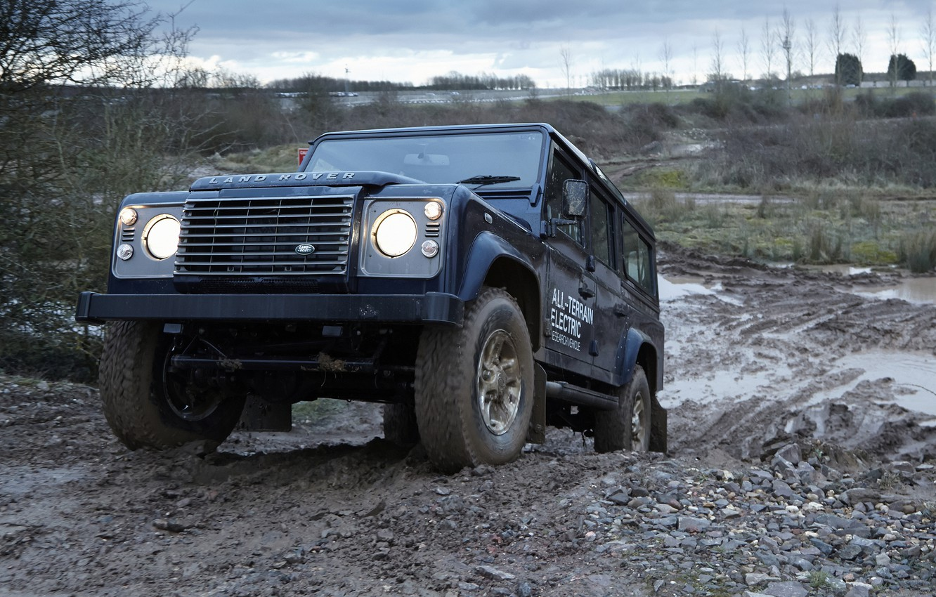 Photo wallpaper prototype, Land Rover, polygon, Defender, 2013, All-terrain Electric Research Vehicle