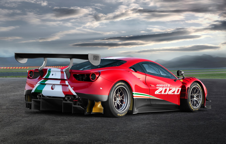 Photo wallpaper Ferrari, sports car, Evo, GT3, 488, Ferrari 488