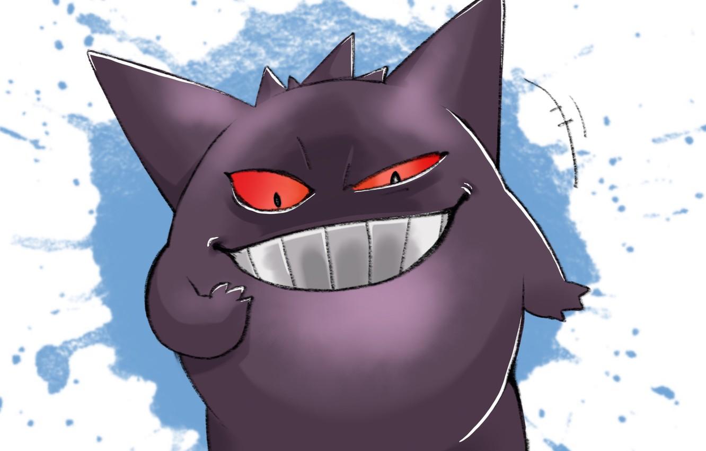 Photo wallpaper smile, pokemon, Pokemon, Gengar