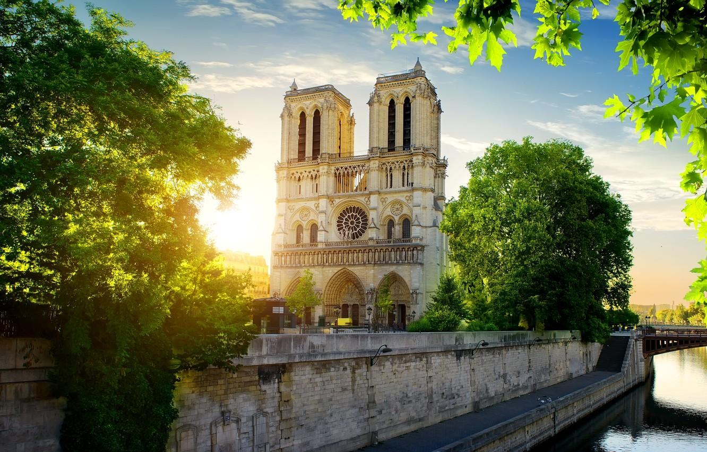 Photo wallpaper Paris, France, Our Lady